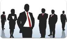 Photo of Information Technology consultants standing in a group.